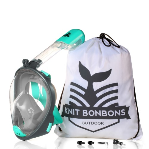 KBB-Outdoor 180° Seaview Compatible Full Face Snorkel Mask